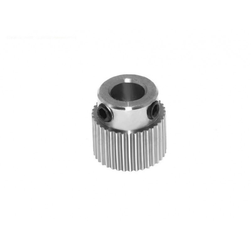 Pignon d'entrainement inox 36 dents alésage 5mm pour extrudeur imprimante 3D - I3D Service
