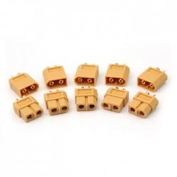 Lot de 5 paires de connecteurs XT-60 - I3D Service