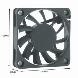 Ventilateur axial 6010 - 60 x 60 x 10mm - 12V ou 24V - I3D Service