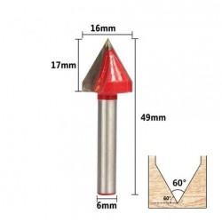 Fraise carving angle de 60° diamètre 16mm - I3D Service