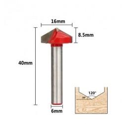 Fraise carving angle de 120° diamètre 16mm - I3D Service
