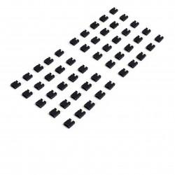 Lot de 50 cavaliers / jumpers noir au pas de 2.54mm - I3D Service